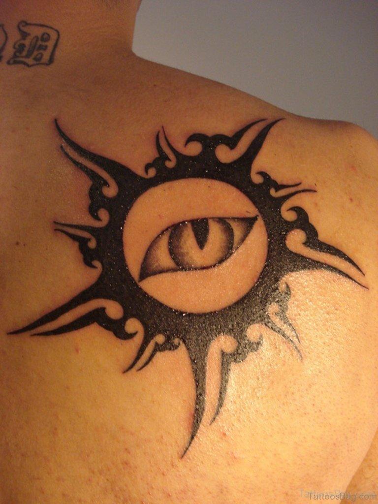 54 latest sun tattoos for back. Black Bedroom Furniture Sets. Home Design Ideas