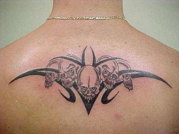 Tribal Sun Tattoo On Back
