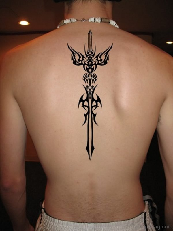 Tribal Sword Tattoo Design