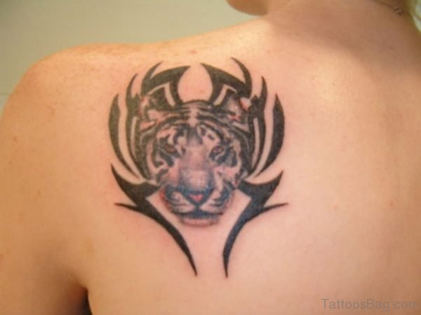 Tribal Tiger Face Tattoo