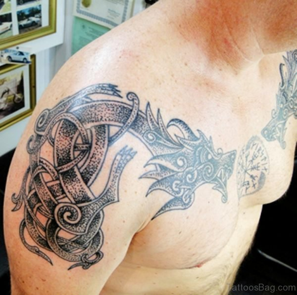 Tribal Viking Dragon Tattoo