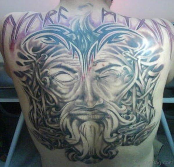 Tribal Warrior Face Tattoo