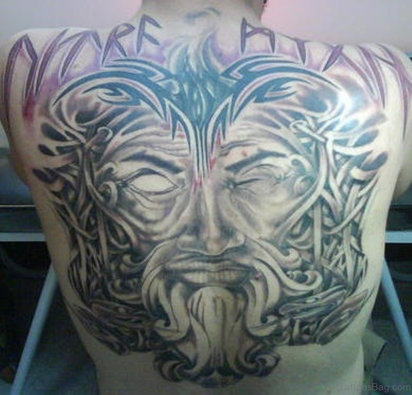 59 alluring viking tattoos for back for Tribal warrior tattoos