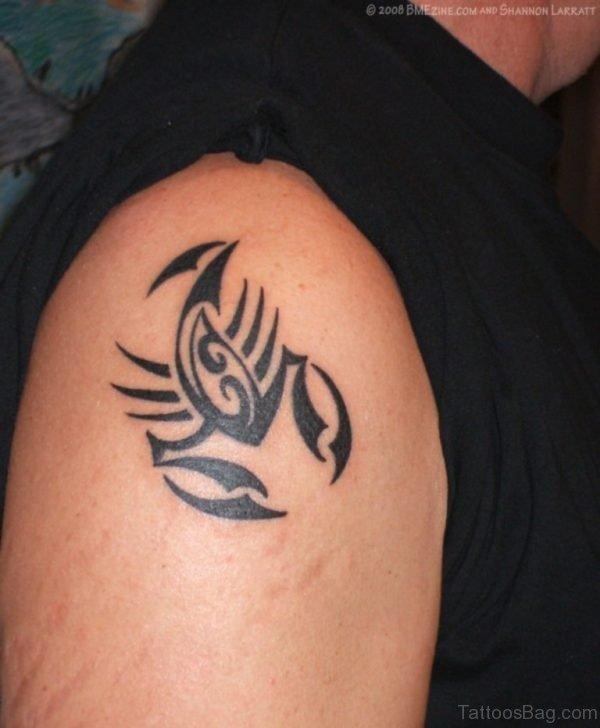 Tribal Zodiac Scorpio Tattoo