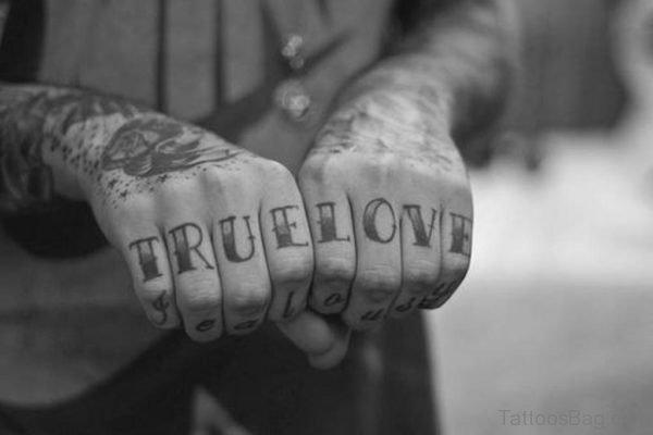 True Love wording Tattoo