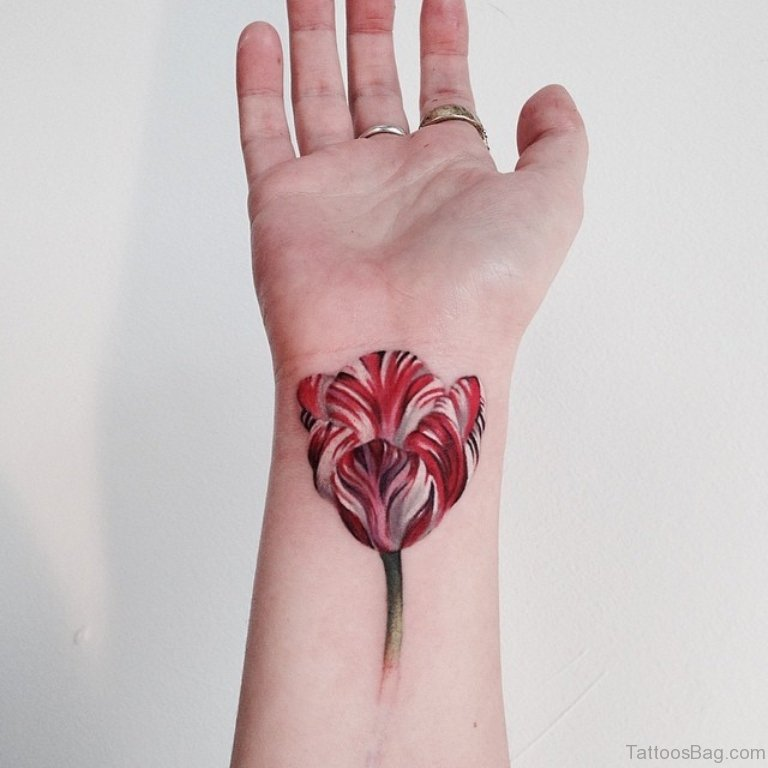 72 fantastic flower tattoos for wrist. Black Bedroom Furniture Sets. Home Design Ideas