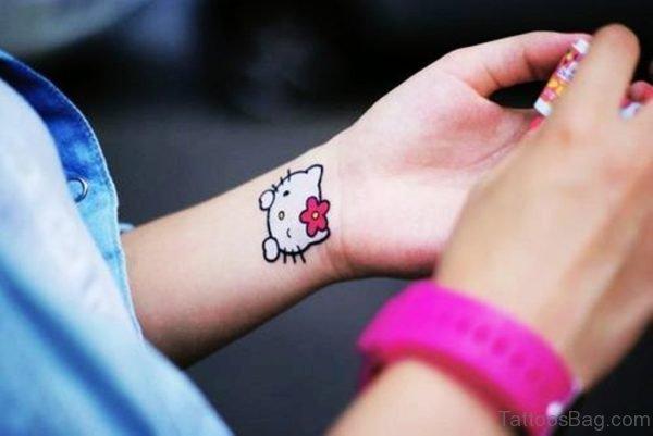 Tumbler kitty Wrist Tattoo