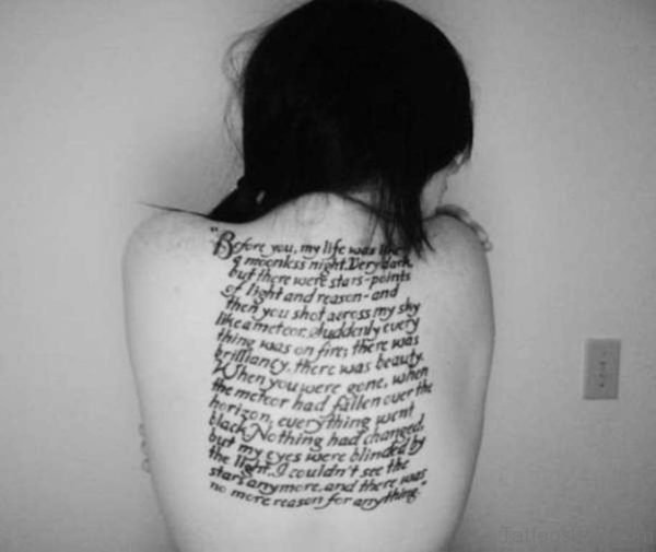 Twilight Wording Tattoo