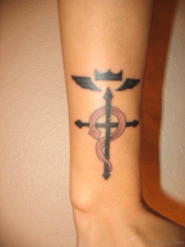 Twin Rosary Tattoo On Wrist