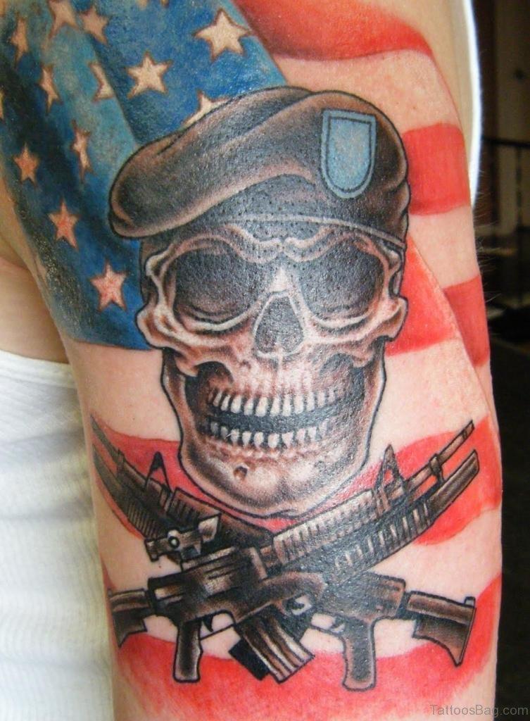 53 top flag tattoos on shoulder. Black Bedroom Furniture Sets. Home Design Ideas