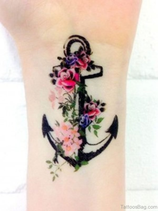 Unique Anchor Tattoo On Wrist