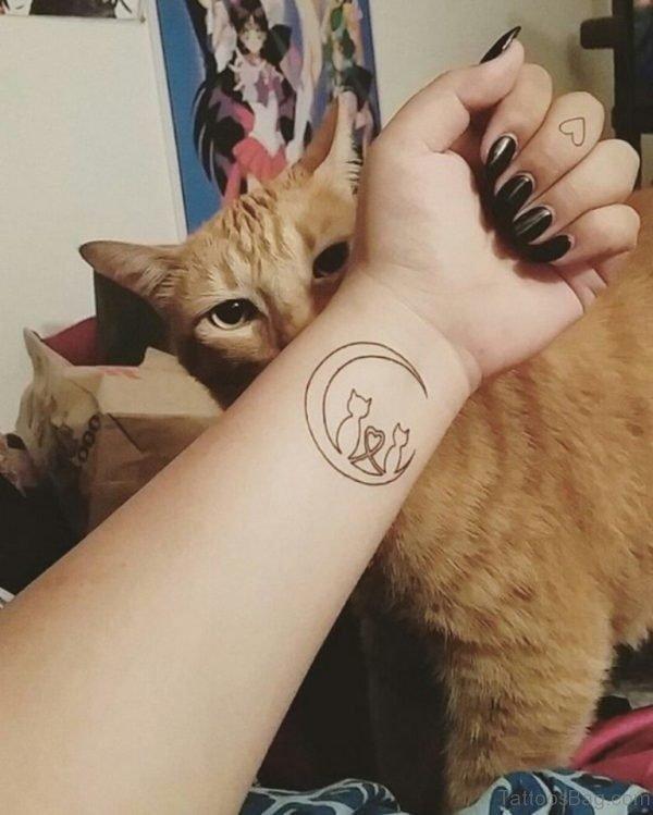 Unique  Cat Tattoo