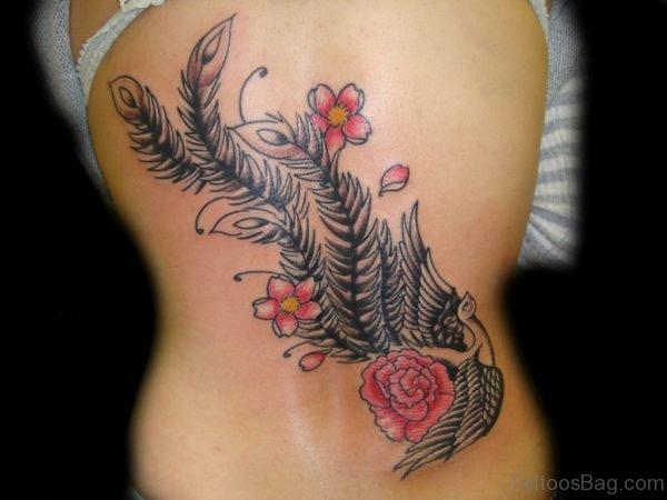 Unique Feather Tattoo