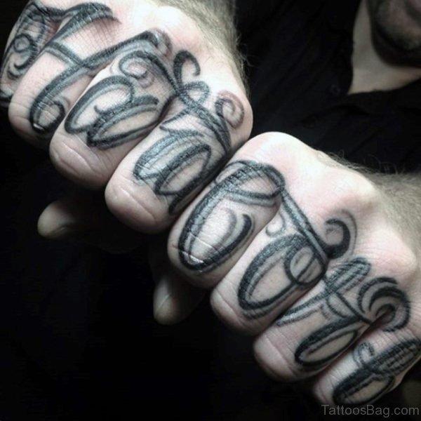 Unique Finger Tattoo
