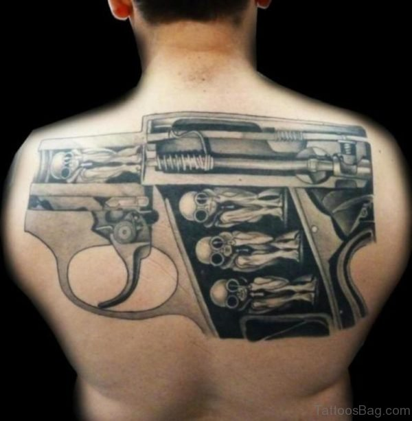 Unique Gun Tattoo