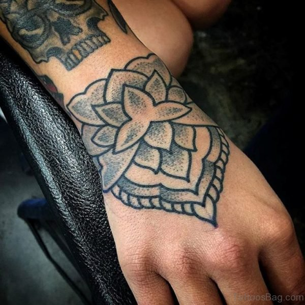 Unique Lotus Flower Tattoo