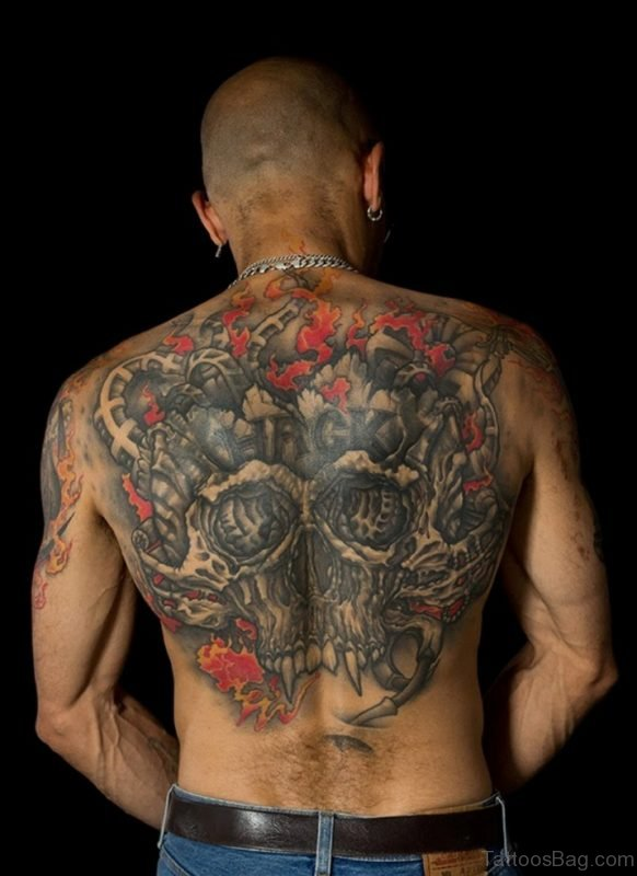 Unique Skull Tattoo