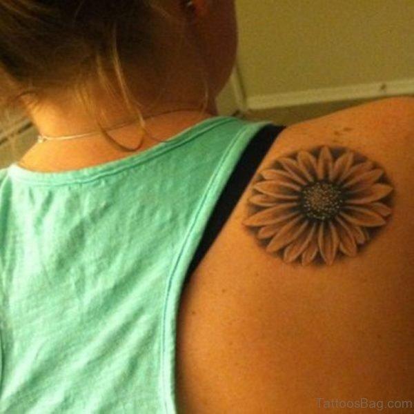 Unique Sunflower Tattoo Design