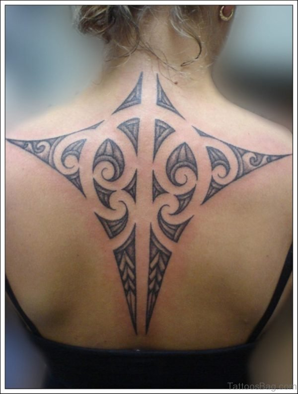 Unique Tribal Tattoo On Back