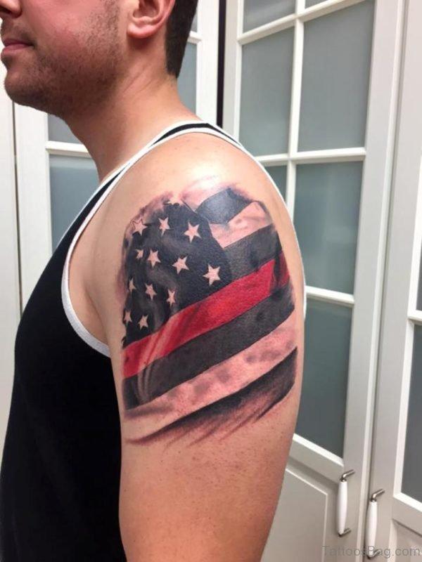 Us Flag Tattoo Design