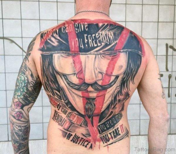 Vendetta Mask Tattoo