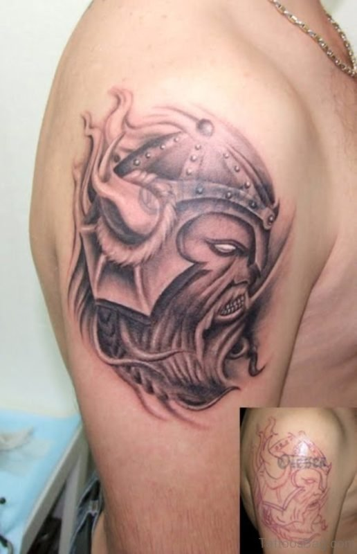 Viking Man Shoulder Tattoo