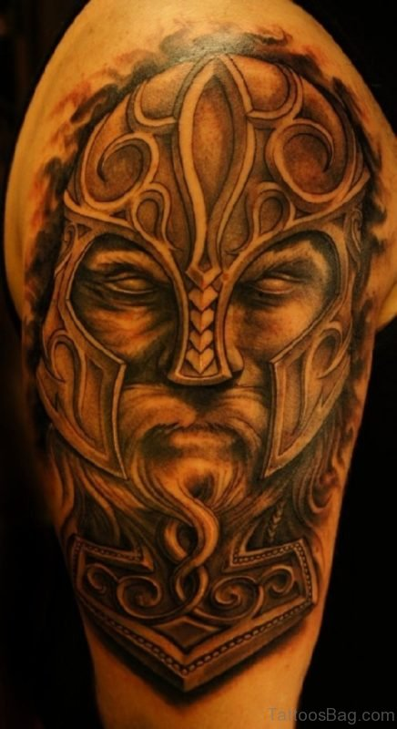 Viking Shoulder Tattoo Design