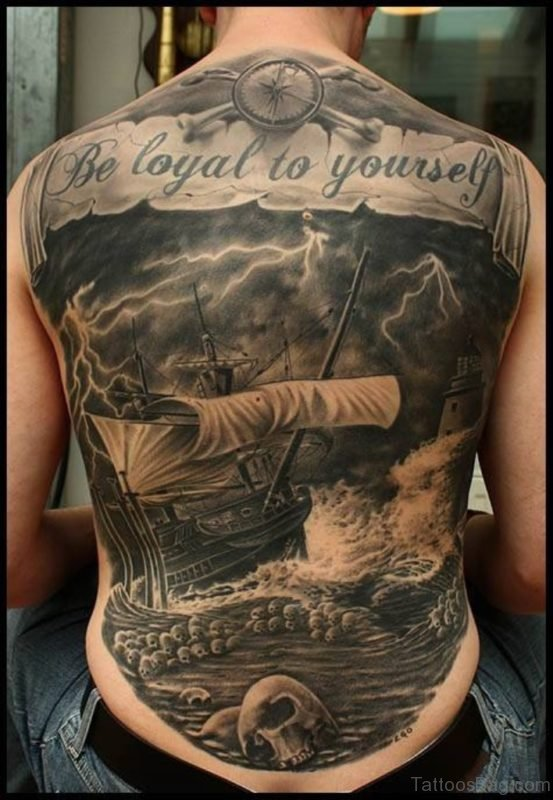 Viking Tattoo On Full Back