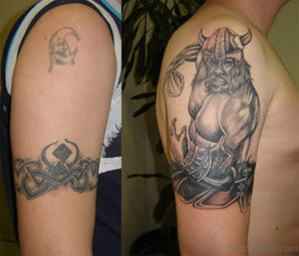 Viking Tattoo On Right Shoulder