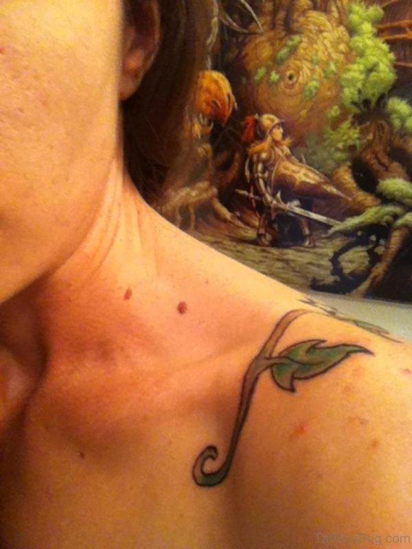 Vine Tattoo On Shoulder