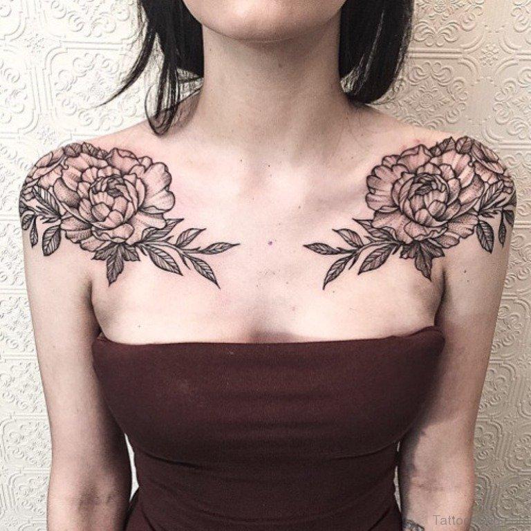 Flower Shoulder Tattoo: 72 Fashionable Vintage Flower Tattoo On Shoulder