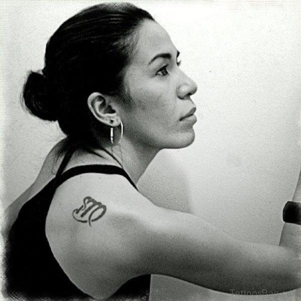Virgo Tattoo Design On Right Shoulder
