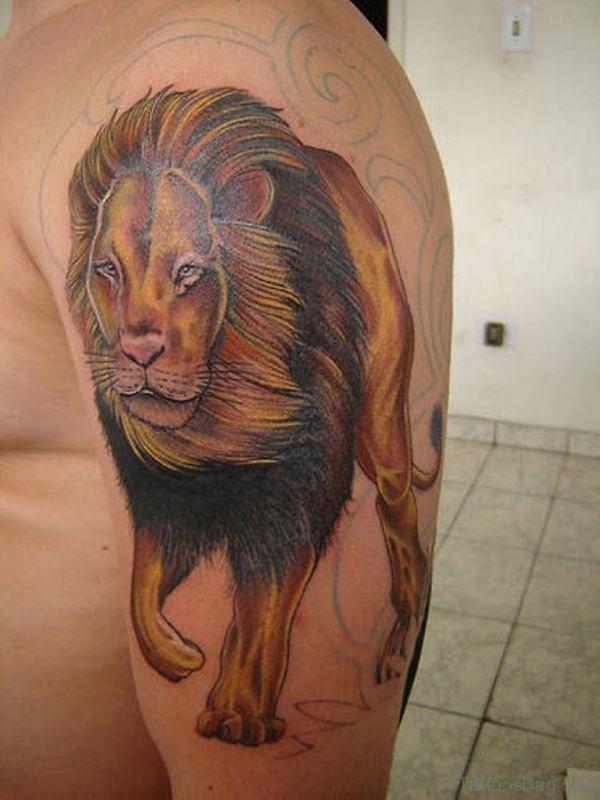Walking Lion Tattoo