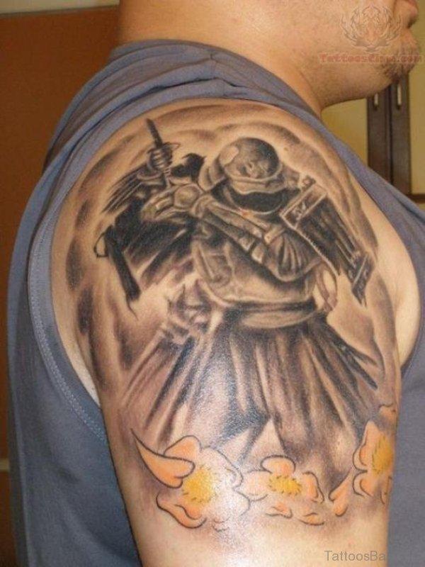 Warrior Tattoo For Men Shoulder