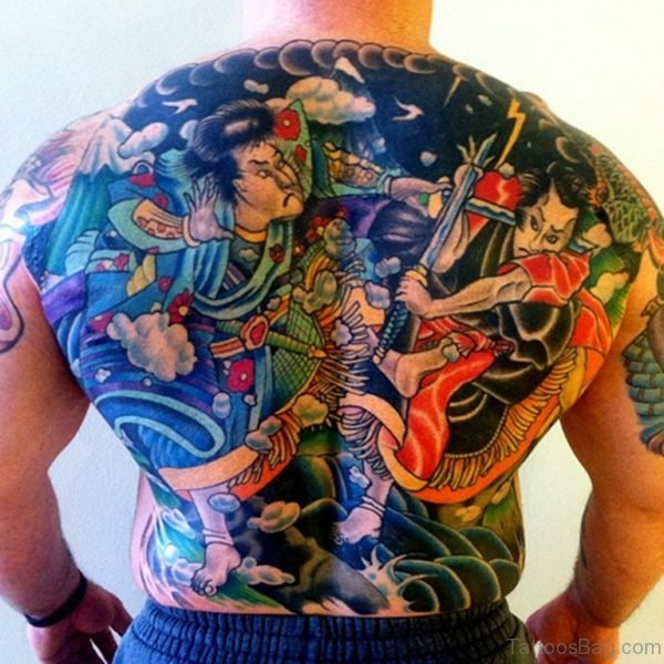 Warrior Tattoo On Back