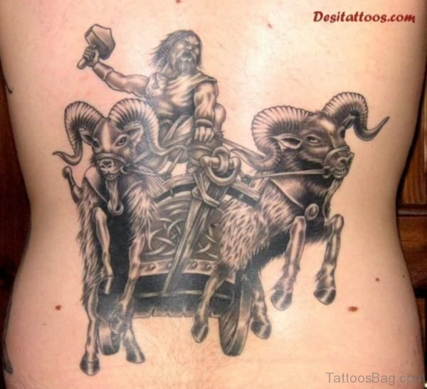 Warrior Tattoo On Lower Back