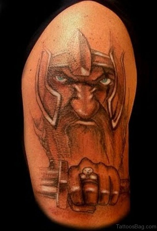 Warrior Viking Tattoo Design