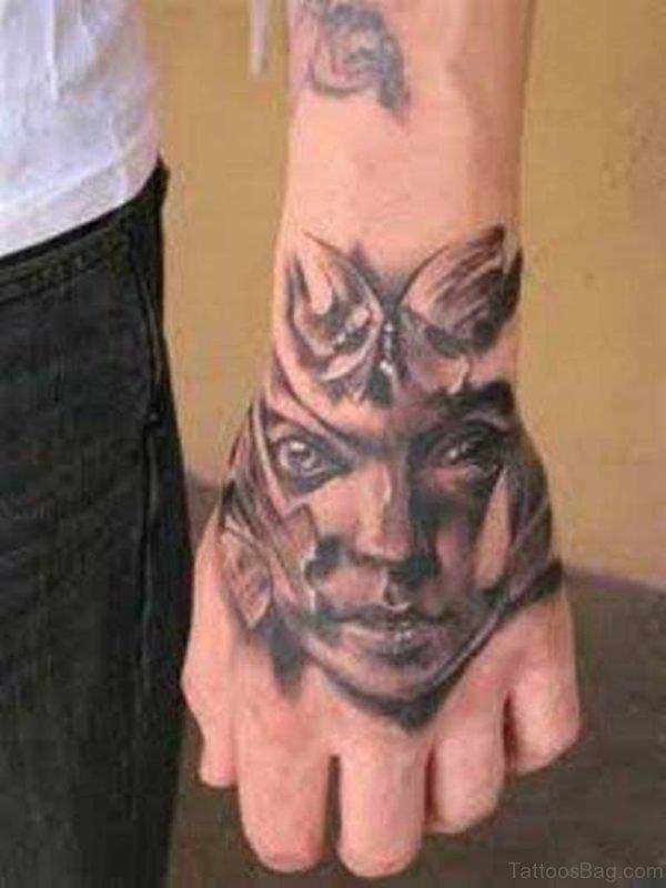 Warrior Face Tattoo