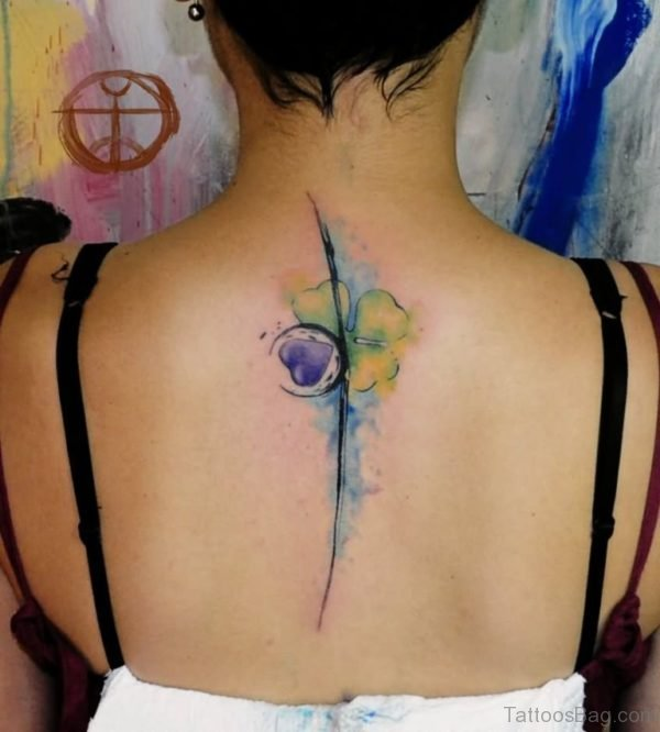 Watercolor Clover Leaf Tattoo