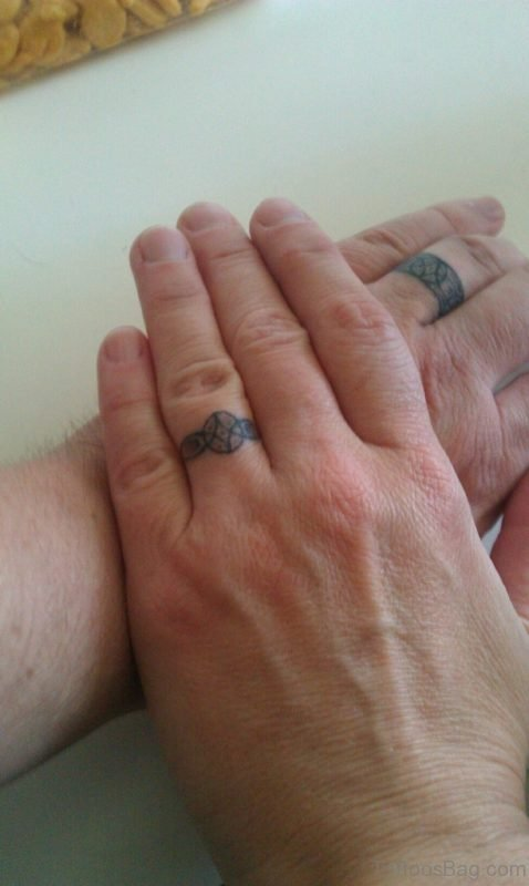 Wedding Ring finger Tattoo