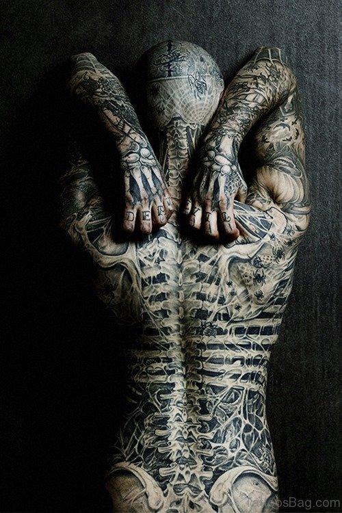 Weird Back Tattoo