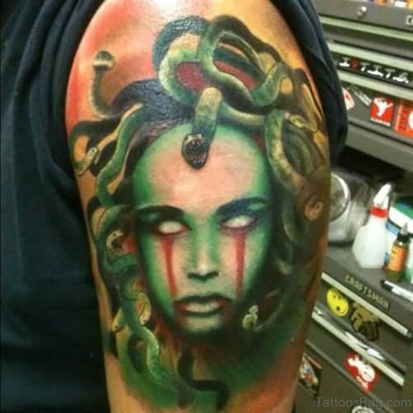 Weird Medusa Tattoo