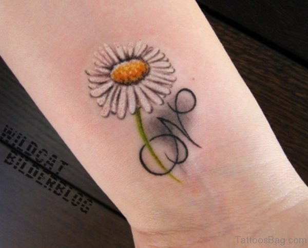 White Daisy Flower Tattoo