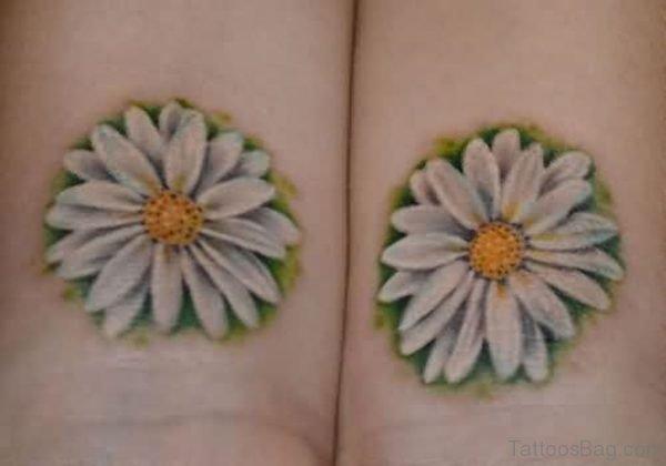White Daisy Flowers Tattoo