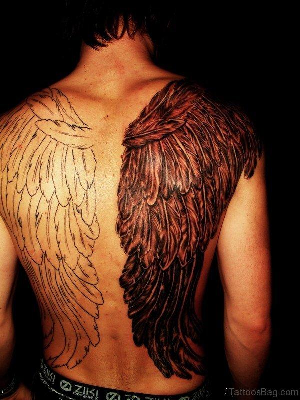Wing Shoulder Tattoo For Men
