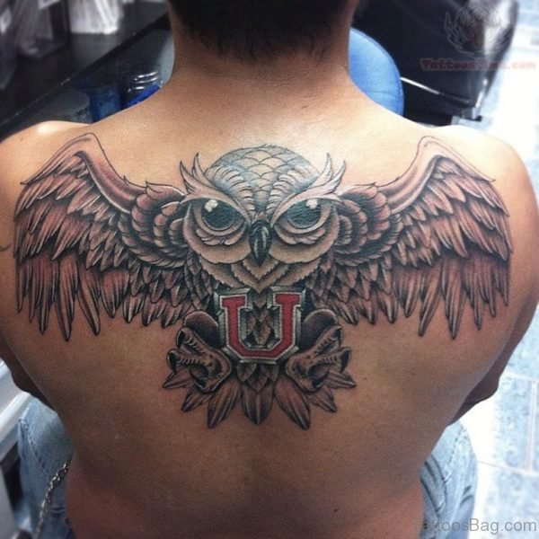 Winged Owl Tattoo