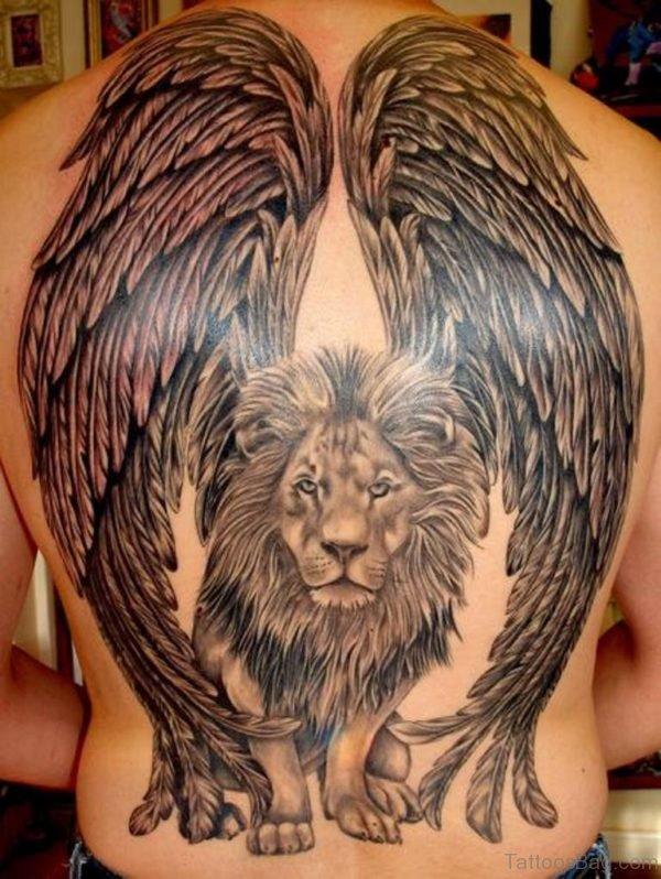 Wings Lion Tattoo