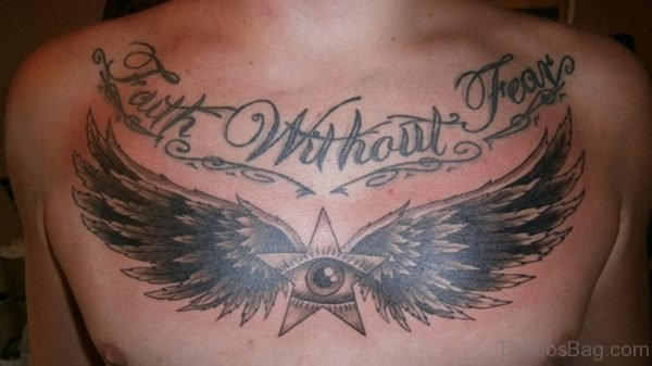 Wings And Eye Tattoo