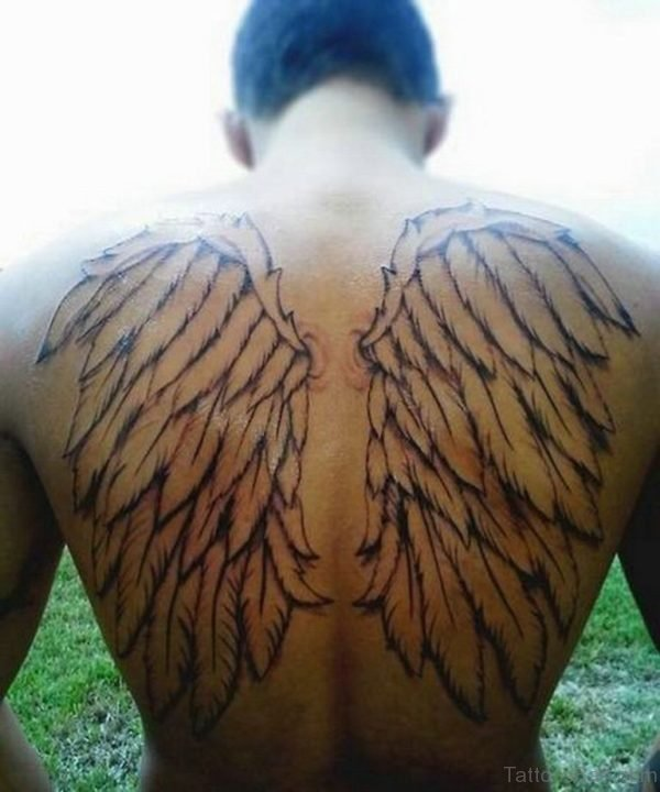 Wings Back Tattoo