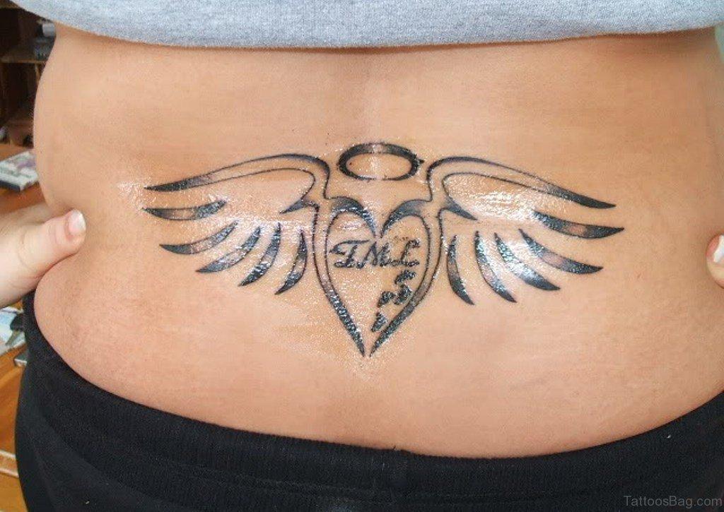 dcbc66345 51 Prettiest Memorial Angel Tattoos On Back
